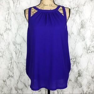 NWT EXPRESS Blue Career Style Blouse tank large